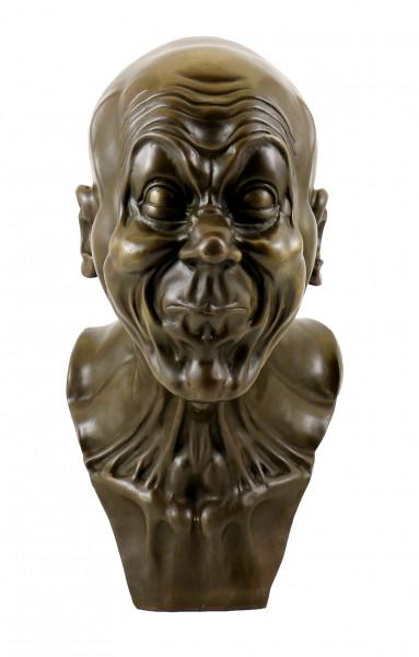 Groteske Grimasse - Charakterkopf v. Messerschmidt, Bronze