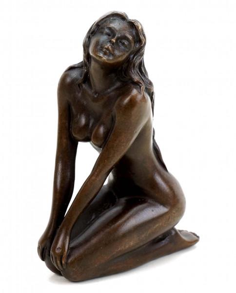 Erotik Akt - Hockende Akt Bronze - Patoue - Erotische Figur
