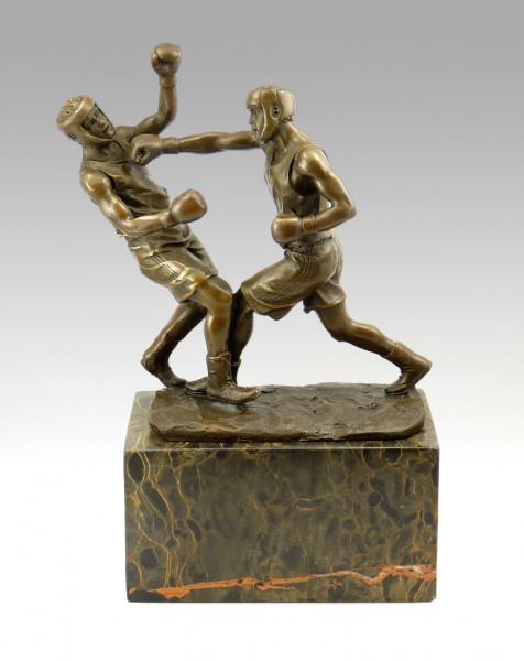 Bronze Pokal / Sportpokal fürs Boxen signiert Milo