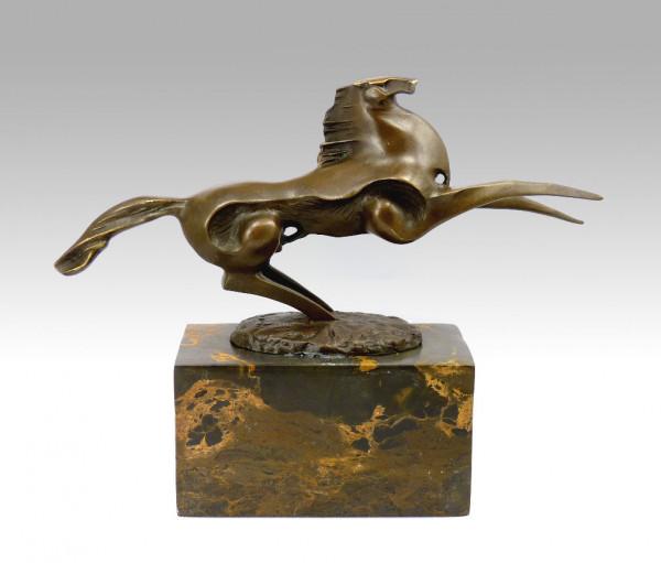 Bronzeskulptur - Dynamischer Hengst - signiert Milo