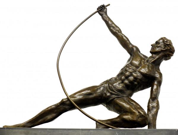 Art Deco Bronzefigur - The Bender - signiert J. de Roncourt