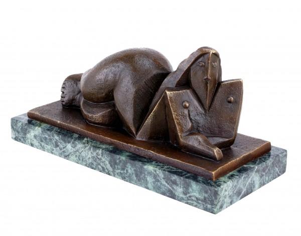 Kubistische Akt Skulptur - signiert Lipchitz - Kubistische Bronze