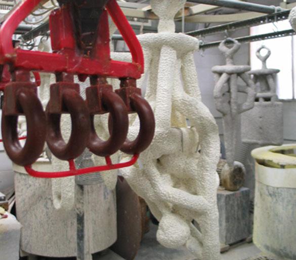 bronze-shop_schamotteinbettung-und-ausschmelzung