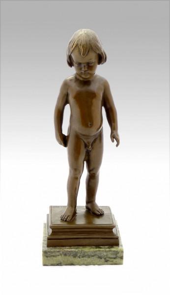 Kinderakt - Nackedei Bronzefigur signiert A. Calder