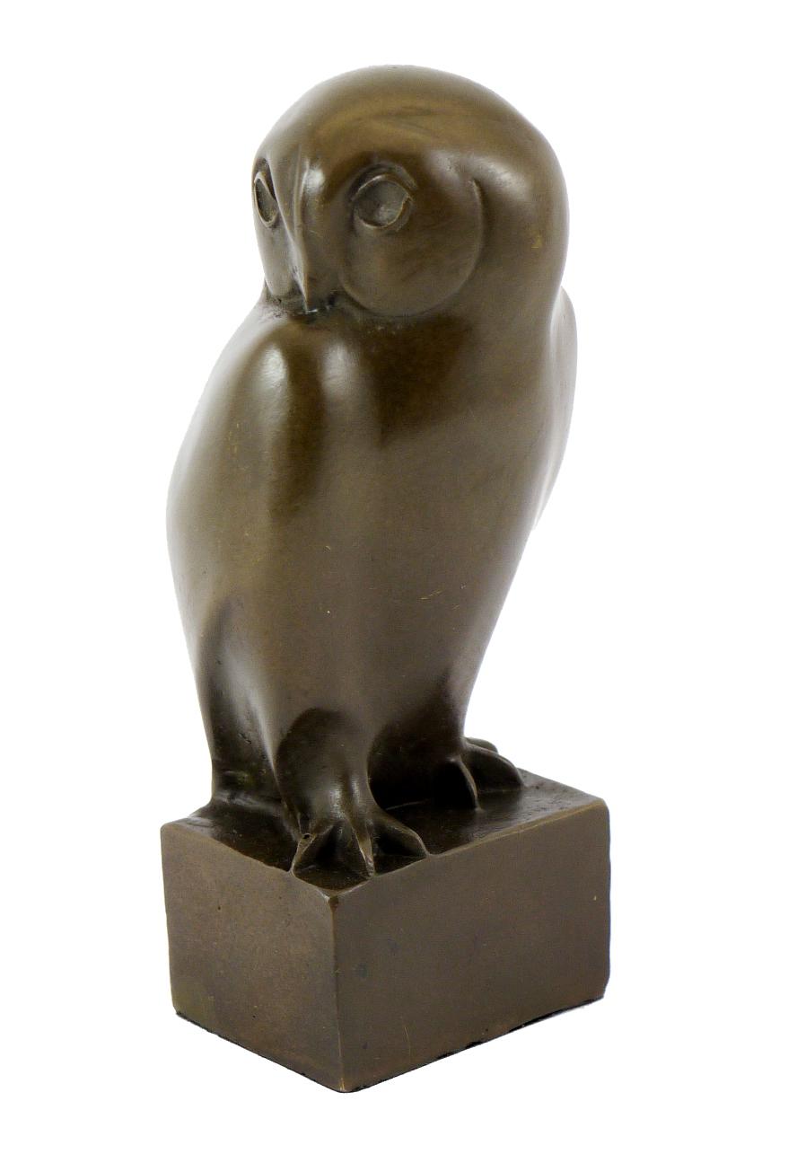 20121B Figur Skulptur Francois Pompon *Eule groß* Owl grand duc 1,8 kg