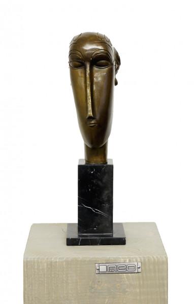 Abstrakte Bronze - Woman's Head (1912), sign. A. Modigliani