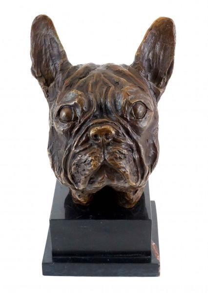 Französische Bulldogge / Bully - Echte Bronze - sign. von Milo