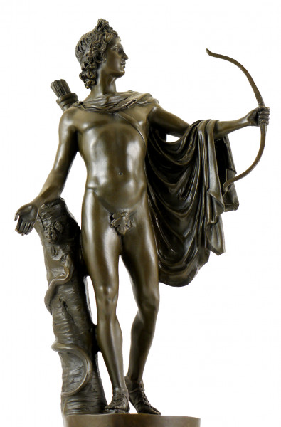 Antike Skulptur aus Bronze - Apollo von Belvedere - Leochares
