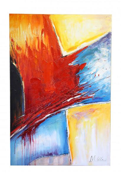 Abstraktes Moderne Kunst Acrylbild - Bunt - signiert M. Klein