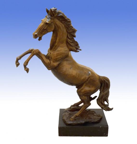 Dynamische Bronzefigur - Wilder Hengst - Pferd von Milo