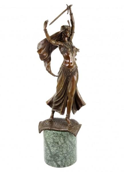 Art Deco Statue - Orientalische Schwerttänzerin - signiert Preiss