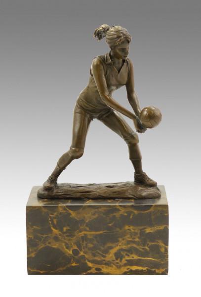 Bronze-Sportpokal - Die Volleyballerin - signiert Milo