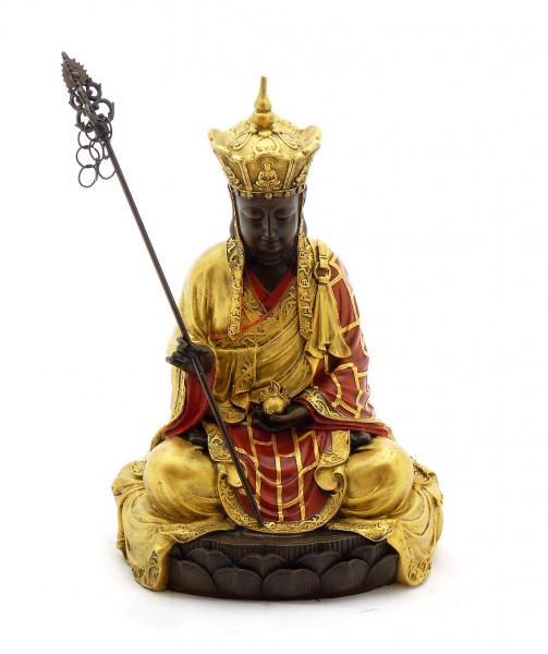Buddha Bronze Figur handbemalt signiert Milo