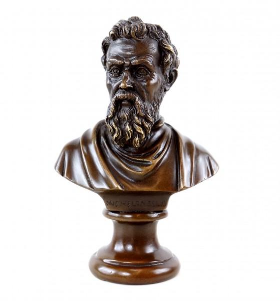 Michelangelo Büste aus Bronze - signiert - Bronzefigur