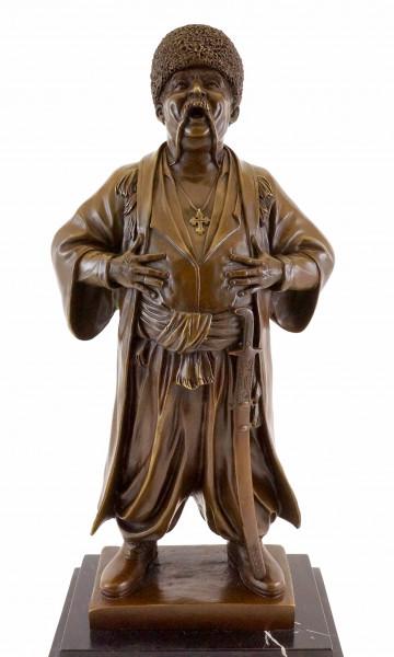 Russische Kosaken Bronzefigur - Eugene Lanceray - Echte Bronze