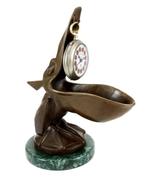 Art Déco Uhrenständer - Modell Pelikan - sign. Verler