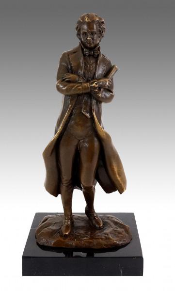 Bronzefigur - Komponist - Franz Peter Schubert - Milo