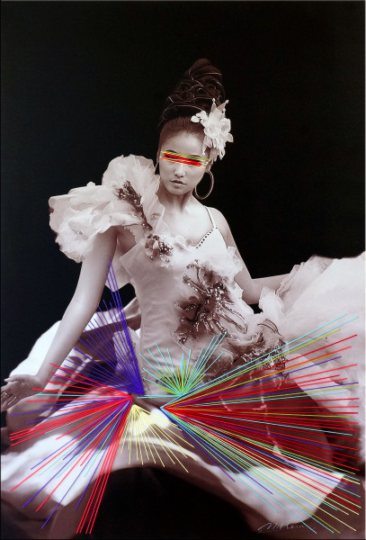 Incognito Threads - plastisches Gemälde auf Leinwand - M. Klein