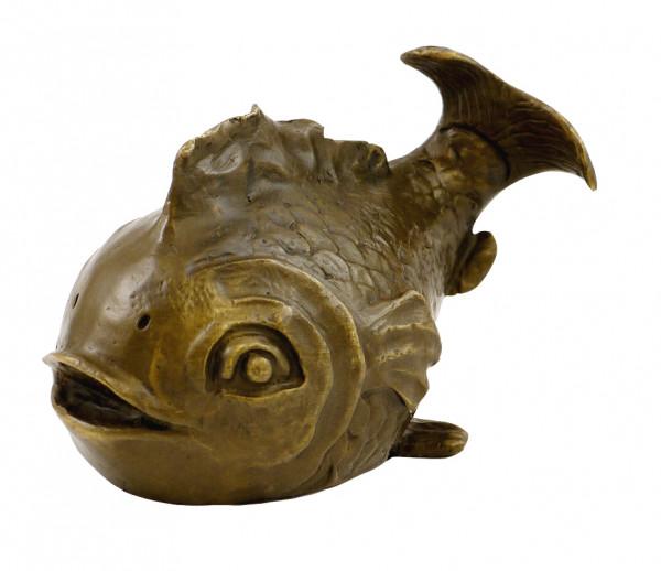 Bronze Kunst - Niedlicher Kugelfisch - Koi, signiert Milo
