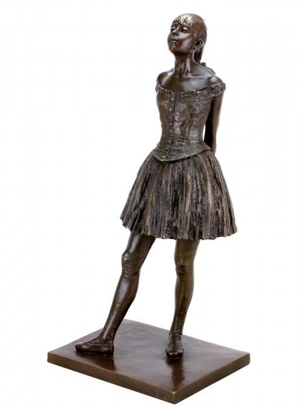 Kleine vierzehnjährige Tänzerin - Moderne Bronzeskulptur - Edgar Degas