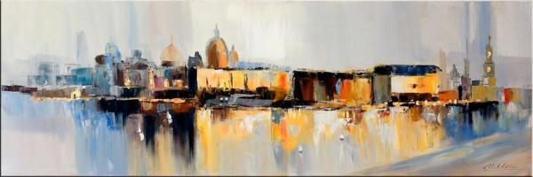 Modern Art Canaletto Silhouette Dresden II - Martin Klein