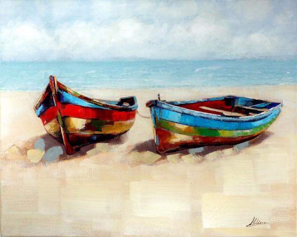 Gestrandet – Boot Bild – Martin Klein – Meer Gemälde - Maritim