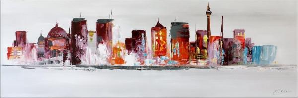 Modern Art - Berlin Skyline - Acryl auf Leinwand - Martin Klein