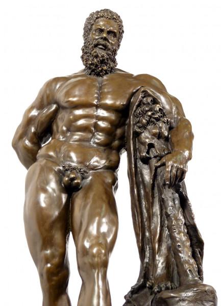Große Mythologie Bronze HERKULES FARNESE signiert Glycon