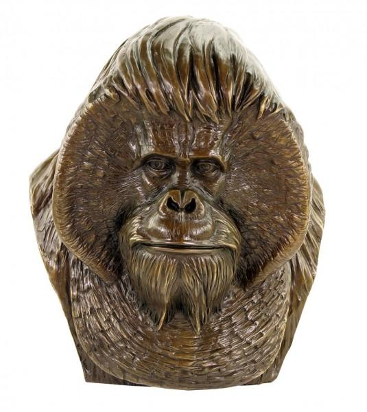 Borneo Orang Utan Büste - Großer Affenkopf - limitierte Tierfigur