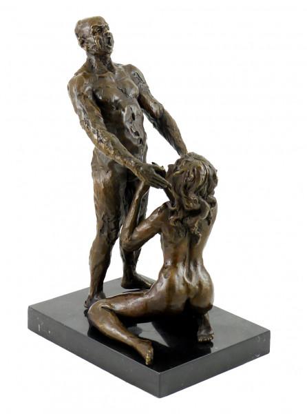 Erotische Bronze-Plastik - Blow Job/ Oralbefriedigung