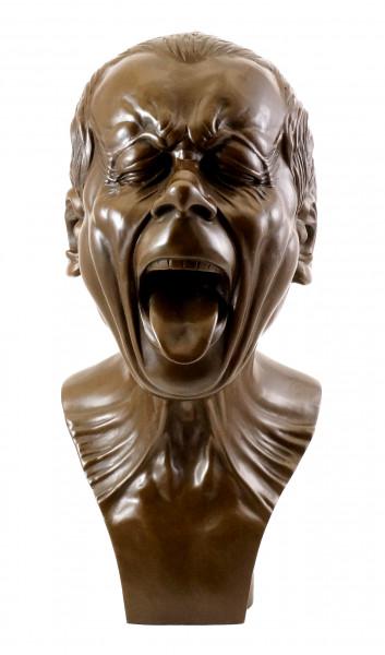 Studienkopf mit herausgestreckter Zunge, Messerschmidt / Bronze