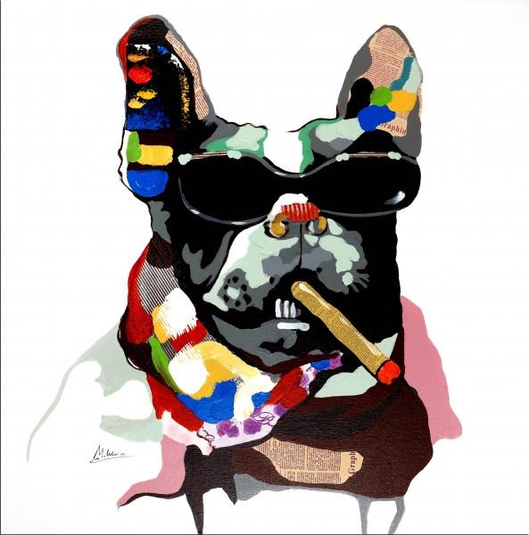 Cool Bulldog – Hundebild – Martin Klein - Bully Gemälde