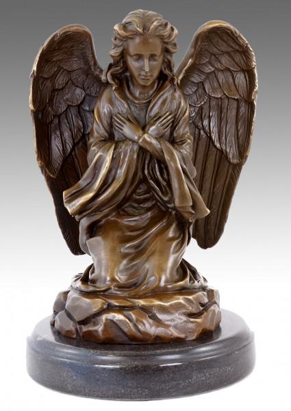 Jugendstil Bronzefigur - Betender Trauerengel - sign. Milo