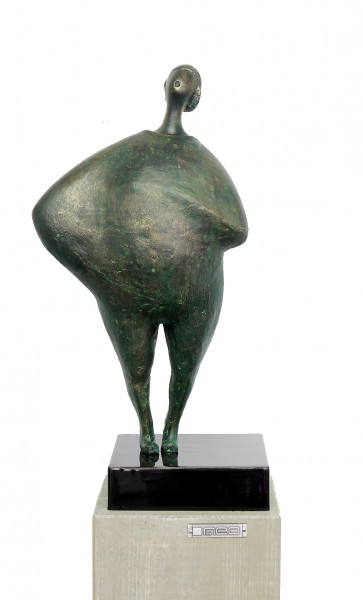 Moderne Kunst - Abstrakter Akt - Fiberglasskulptur, M. Klein