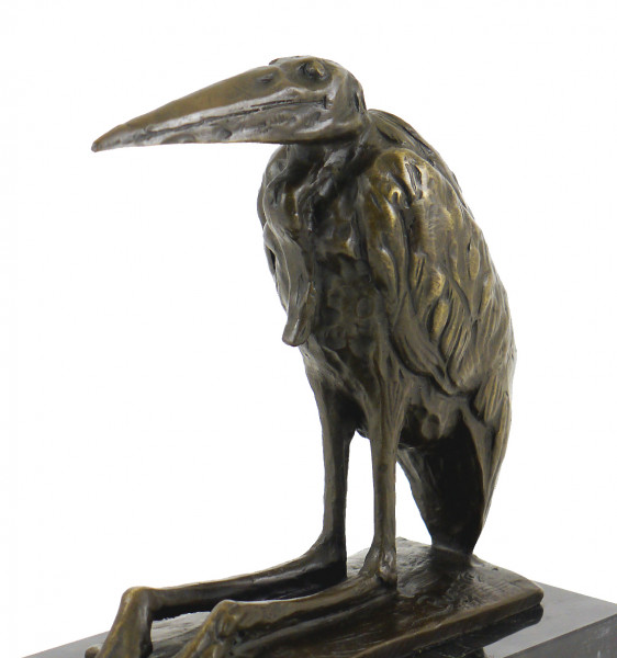 Bronzefigur - Marabu / Afrikanischer Storch - sign. R. Bugatti