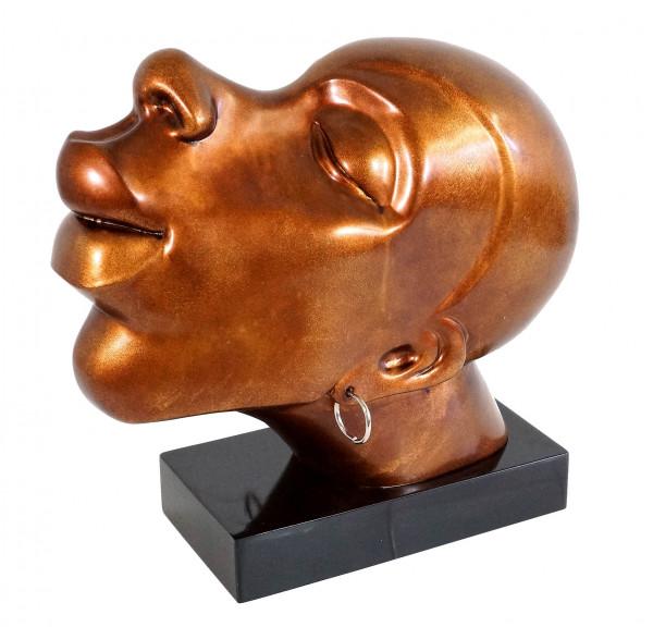 Afrikanischer Kopf aus Fiberglas - Kongo Man - Martin Klein