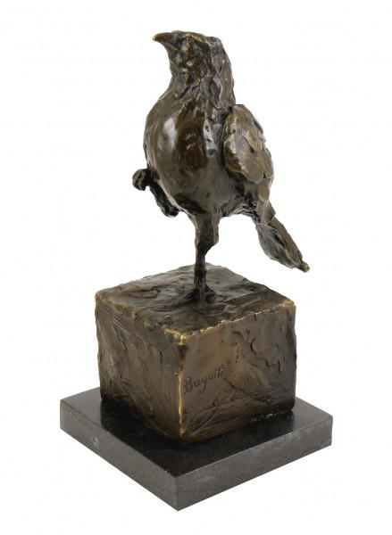 Bronzeskulptur auf Marmor - Stolzer Vogel - sign. R. Bugatti