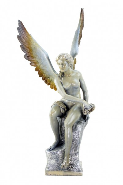 Große Limitierte Engel Statue aus Bronze - signiert Thorvaldsen