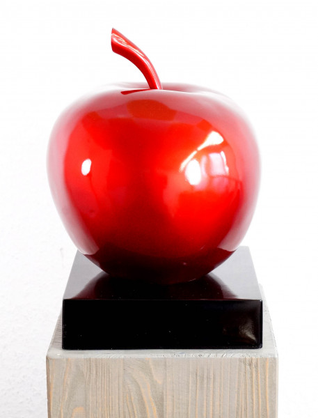 Schneewittchens Apfel - Fiberglas-Skulptur - Martin Klein