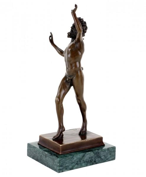 Fauno Danzante aus Pompeji  - Tanzender Faun in Bronze - signiert Milo