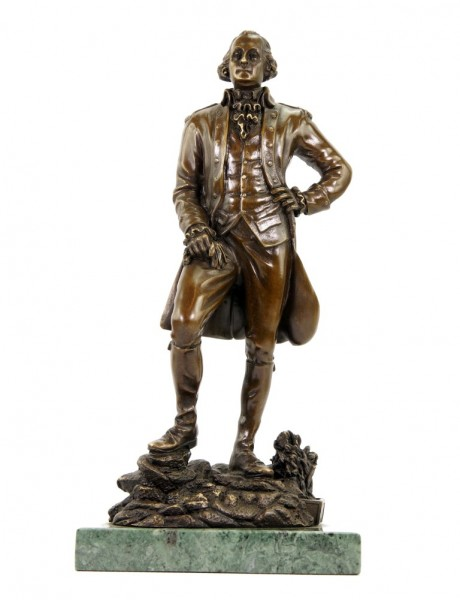 George Washington Statue - Klassische Bronzefigur - sign. Milo