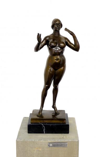 Standing Woman - Moderne Kunst-Skulptur - sign. G. Lachaise