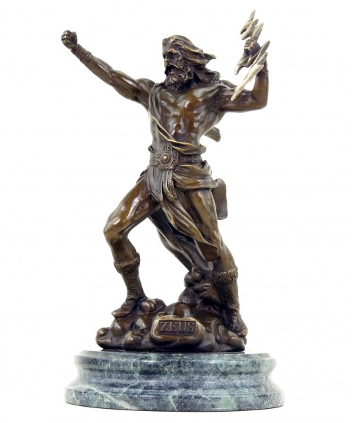 Zeus - Götterstatue - signiert Giambologna - Mythologische Skulptur