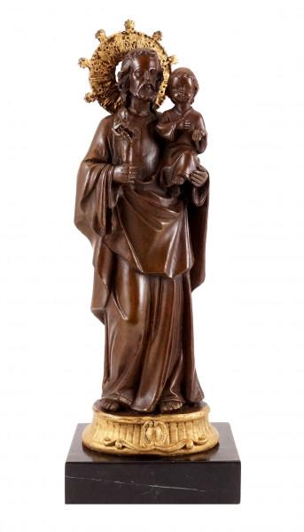 Bronzefigur - Josef mit dem Jesuskind - Adolph A. Weinman