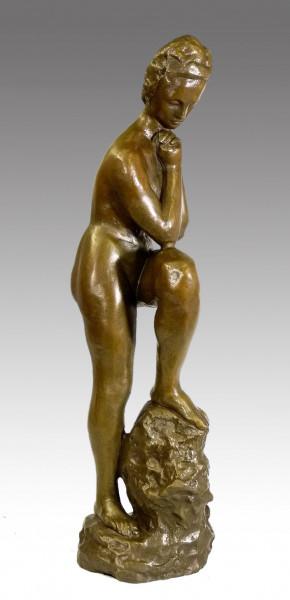 Wilhelm Lehmbruck Bronze - Mädchen Mit Aufgestütztem Bein