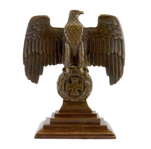 Bronze Reichsadler 1.WK auf Eisernem Kreuz - Echte Bronze