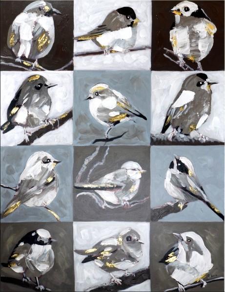 Vogelperspektive groß – Vogelbild in Öl/Acryl – Martin Klein