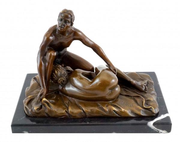 Blow Job / Sex-Szene - Erotische 2-teilige Bronzefigur - M. Nick