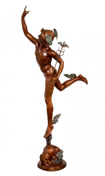 Großbronze - Hermes, der Götterbote - signiert Giambologna