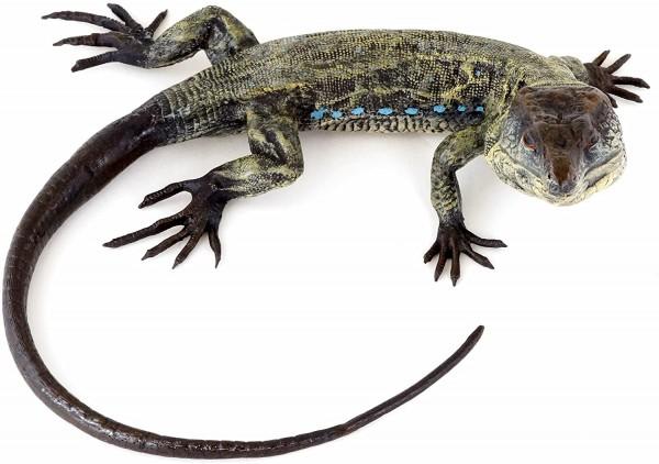 Wiener Bronze - Echse - Leguan - Reptil - authentische Tierfigur - Handbemalt